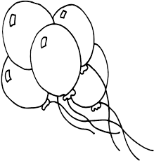 Birthday Balloon Coloring Pages 2