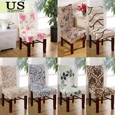 Stretch Spandex Chair Cover Dining Room Wedding Party Decor Pattern Seat