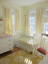 a buttercream yellow nursery in boston my room coral accents
