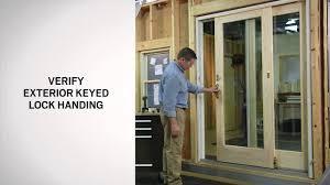 Andersen 200 Series Patio Door Lock by Exterior Keyed Lock Installation On Andersen Frenchwood Gliding