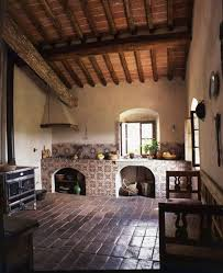 I Want Primitive Tuscan Style Interior With A Wood Burning Stove