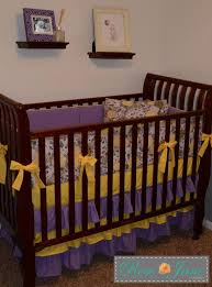 Purple And Yellow Crib Bedding 2854