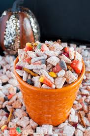 Pumpkin Spice Chex Mix With Candy Corn by Halloween Pumpkin Spice Muddy Buddies Page 2 Of 2 Back For Seconds
