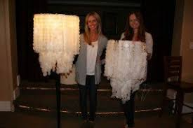 Make Your Own Chandelier Guess What They Used WAX PAPER