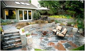 Patio Ideas ~ Backyard Stone Patio Outdoor Stone Patio Cost ... Paver Patio Area With Fire Pit And Sitting Wall Nanopave 2in1 Designs Elegant Look To Your Backyard Carehomedecor Awesome Backyard Patio Designs Pictures Interior Design For Brick Ideas Rubber Pavers Home Depot X Installing A Waste Solutions 123 Diy Paver Outdoor Building 10 Patios That Add Dimension Flair The Yard Garden The Concept Of Ajb Landscaping Fence With Fire Pit Amazing Best Of