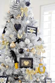 View In Gallery Stunning White Christmas Tree With Gold Black And Decorations