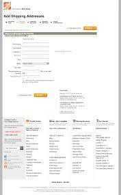 Home Depot s Checkout Step 3 Shipping address Billing address