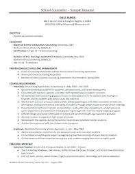 Residential Counselor Resume Sample For School College Academic Advisor