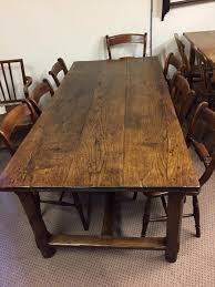 Antique Oak Refectory Farm Table Circa 1840 Farmhouse With Dining Ideas