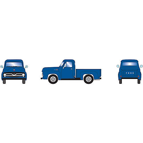 Athearn HO RTR 1955 Ford F-100 Pickup, Blue