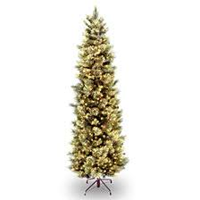 National Tree 7 5 Carolina Pine Slim With Flocked Cones 600 Clear
