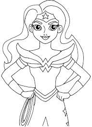 Wonder Woman Super Hero High Coloring Page
