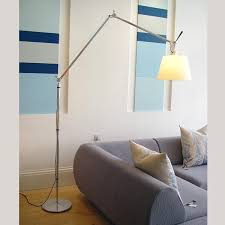 Tolomeo Mega Floor Lamp by Lampadaire Abat Jour Orientable Alu Poli Ivoire ø36cm Tolomeo