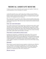 Interesting Design Medical Assistant Resume Objective Examples For Resum Medium Size