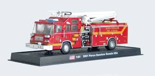 100 Diecast Fire Truck Pierce Quantum Snozzle 164 Model Amercom GB19