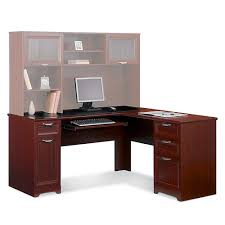 Realspace Broadstreet Contoured U Shaped Desk Cherry by Realspace Magellan L Shaped Desk Dimensions Best Home Furniture