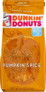 Dunkin Donuts Pumpkin Latte Gluten Free by Dunkin U0027 Donuts Pumpkin Spice Ground Coffee 11 Oz Walmart Com
