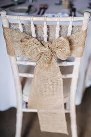 Burlap Bows On Wedding Chairs Diy