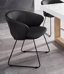 inosign esszimmerstuhl plymouth mit einem schönen kunstleder bezug und einem schwarzen metallgestell in kufen form sitzhöhe 47 cm kaufen
