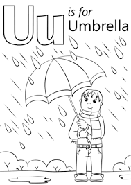 Click To See Printable Version Of U Is For Umbrella Coloring Page