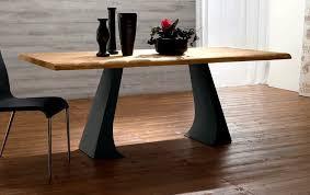 table salle a manger bois et metal table haute salle à manger