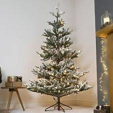 7FT 21M PRE LIT GREEN SNOW EFFECT SPRUCE ARTIFICIAL CHRISTMAS TREE DECORATION