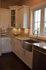 A Backsplash Created With Crystal Shores Tile By Daltile Makes For