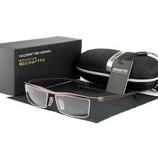 mens classic rimless glasses casual uv400 sunscreen
