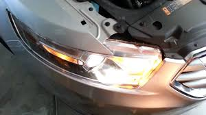 2013 ford taurus limited headlight testing low high beam turn
