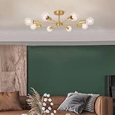 oyipro 8 flammig deckenleuchte modern deckenle e27 lenfassung metall für wohnzimmer schlafzimmer esszimmer balkon restaurant shop bar