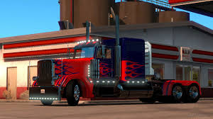 Optimus Prime Skin For Peterbilt 389 | American Truck Simulator Mods