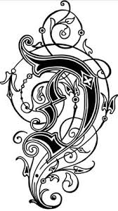 Very ornate J Letters