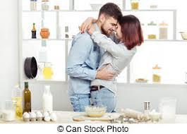couples amour cuisine amour cuisine pâte baisers heureux cuisine photos de
