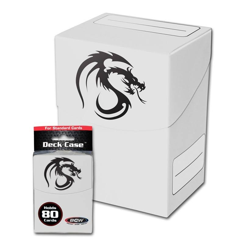 Bcw Deck Case - 80 Cards, White