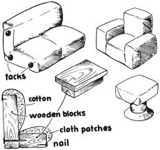 easy doll house furniture making crafts for kids from household