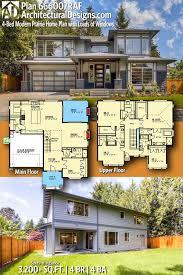 100 German Home Plans Plan 666007RAF 4Bed Modern Prairie Plan With 2Car