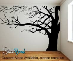vinyl wall decal sticker large spooky tree ac122 wall decal