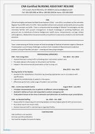 Certified Nursing Assistant Resume Objective Examples Administrative Template Ideas