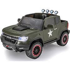 100 Ride On Trucks For Toddlers Exclusive ARMY Edition 4x4 Big GM Chevy Heavy Duty Style Kids