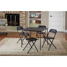 5-Pc Folding Table Chairs Set, Black Portable Card Game Dining Party ... Pub Table And Chair Sets House Architecture Design Fniture Design Kids Folding Childrens Chairs Small Outdoor Camp Portable Set W Carrying Bag Storedx Ore Intertional Children39s Camping Helinox 35 Fresh Space Saving Collection Wooden Kidu0027s Tables Fniture The Home Depot Inside Fold Up Children Inspired Rare Vintage 1957 Leg O Matic 4 Ideas Solid Trestle 8 Folding Chairs Set Best Price In Barnsley Uk