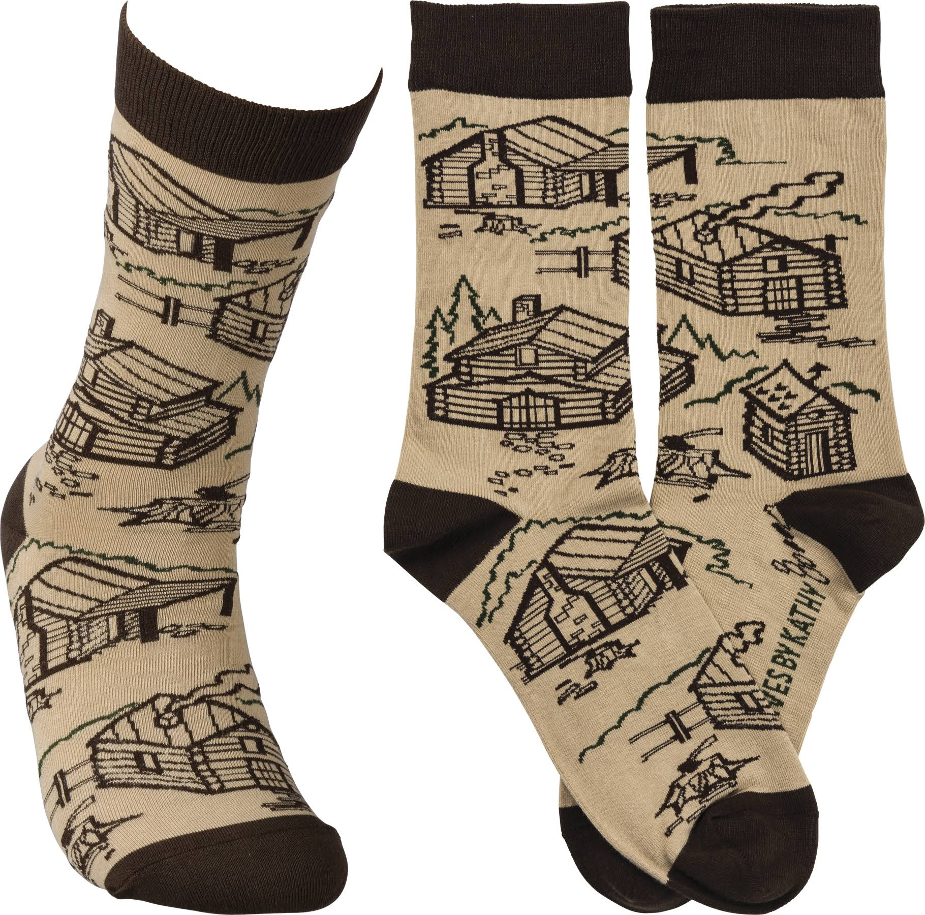 Primitives By Kathy Cabin Socks - One Size