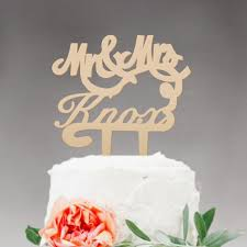 Rustic Wood Wedding Cake Topper Monogram Mr And Mrs Design Personalized With YOUR Last
