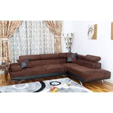 Brown Couch Living Room Design by Ufe Sofia 2 Piece Microfiber Modern Right Facing Chaise Sectional