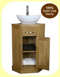 Ebay Bathroom Vanity Units by Oak Corner Bathroom Vanity Unit Small Cloakroom Sink Vanities Ebay