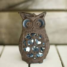 cast iron owl lantern tealight holder by the orchard