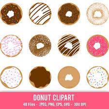 Donut Clipart Doughnut Printable Donuts Cute Dessert