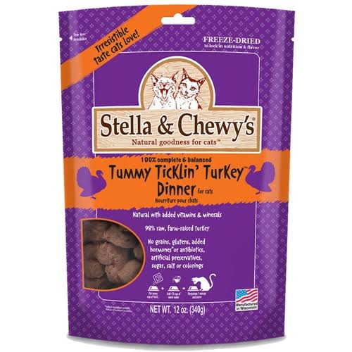 Stella and Chewy's Freeze Dried Cat Food - Turkey, 12oz