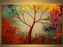 Original Paintingbirch Tree Abstract Paintingpainting On