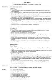 Download Tool Engineer Resume Sample As Image File