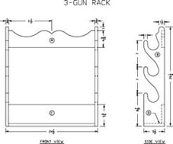 how to build a wooden 3 gun rack free woodworking plans at lee u0027s